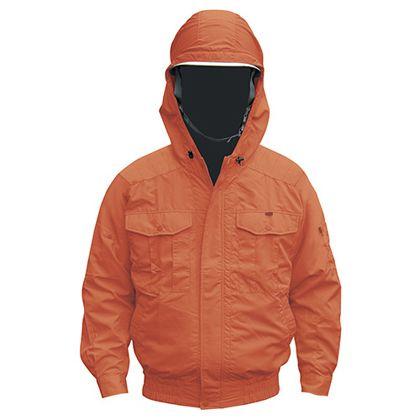 NSP NB-101空調服(S)チタンフード付(服) オレンジ 3L 554582397503839
