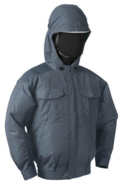NSP NB-101空調服(S)チタンフード付(服) チャコルグレー 3L 554582397505482
