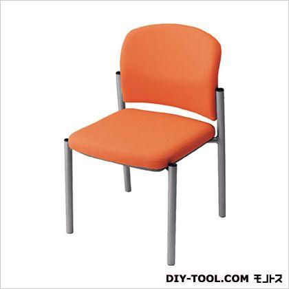 ナイキ 会議用チェアー肘なし布オレンジ E248FOR