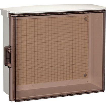日東工業 プラボックス透明扉(屋根)付(汎用タイプ) ホワイトグレー (OP18-54CA)