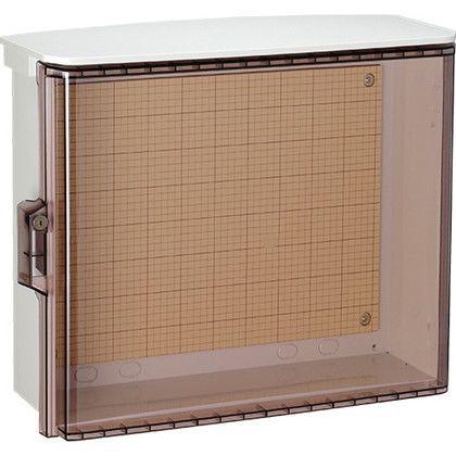 日東工業 キー付耐候プラボックス透明扉(屋根)付汎用タイプ ホワイトグレー (OPK18-54CA)
