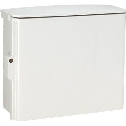 日東工業 キー付耐候プラボックス(屋根付)汎用タイプ ホワイトグレー (OPK20-65A)