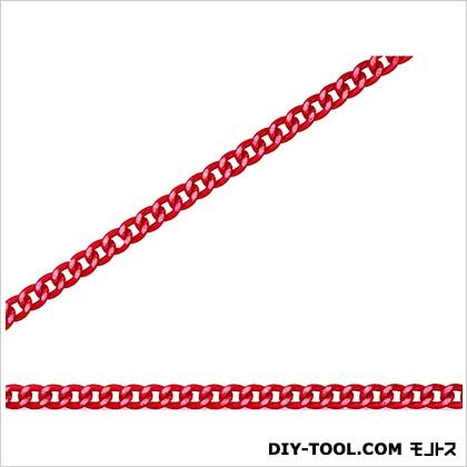 ニッサチェイン/NISSA フリクションショートマンテル リール巻チェイン(アルミ) 赤 30m R-AS12C