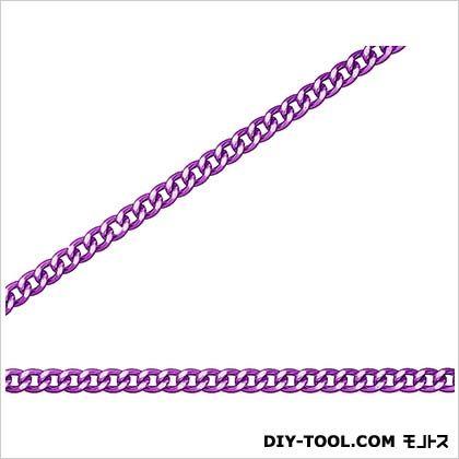 ニッサチェイン/NISSA フリクションショートマンテル リール巻チェイン(アルミ) 紫 30m R-AS12C