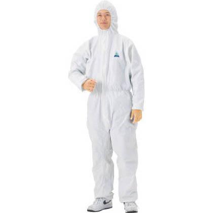 クレシア クリーンガードA40 ツナギ服 ホワイト Lサイズ 68723