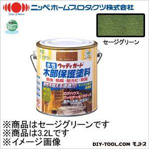 ニッペホーム 水性ウッディガード セージグリーン 3.2L 12