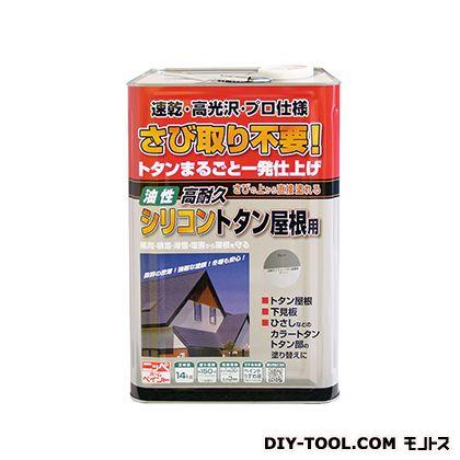 ニッペホーム 高耐久シリコントタン屋根用 グレー 14kg アンティーク仕上げ クラッキング ひび割れ