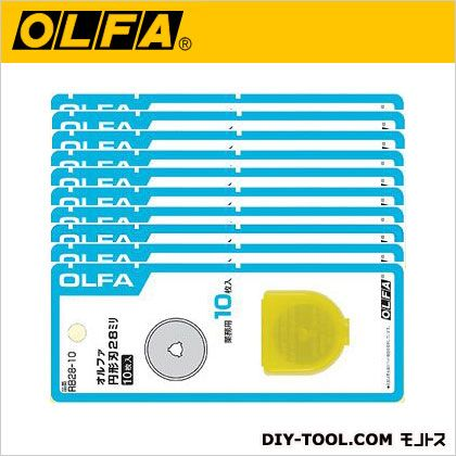 オルファ/OLFA ロータリーカッター 円形刃28ミリ替刃 RB28-10 100枚