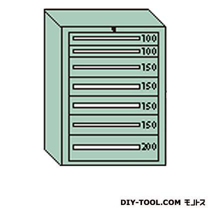 大阪製罐 デラックスキャビネット グレー 幅×奥行×高さ:811×557×1081mm DX1006G
