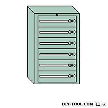 大阪製罐 デラックスキャビネット グレー 幅×奥行×高さ:811×557×1281mm DX1203G