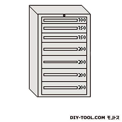 大阪製罐 デラックスキャビネット 幅×奥行×高さ:811×557×1281mm グレー DX1204G