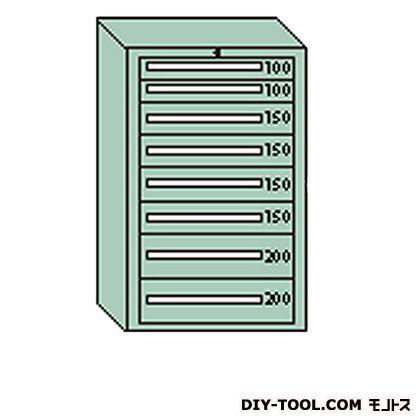 大阪製罐 デラックスキャビネット グレー 幅×奥行×高さ:811×557×1281mm DX1205G