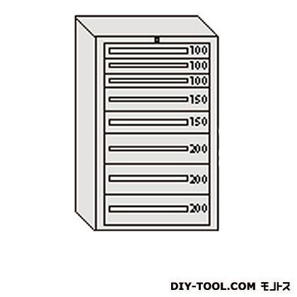 大阪製罐 デラックスキャビネット グレー 幅×奥行×高さ:811×557×1281mm DX1208G