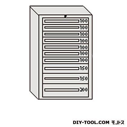 大阪製罐 デラックスキャビネット グレー 幅×奥行×高さ:811×557×1281mm DX1214G