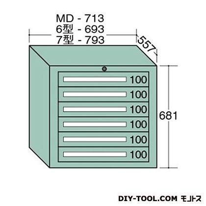 大阪製罐 ミドルキャビネット 幅×奥行×高さ:713×557×681mm MD601
