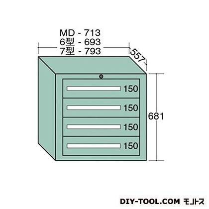 大阪製罐 スタンダードキャビネット 幅×奥行×高さ:693×557×681mm 6-602