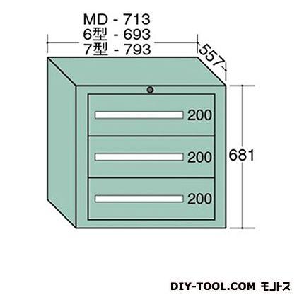 大阪製罐 スタンダードキャビネット 幅×奥行×高さ:793×557×681mm 7-603