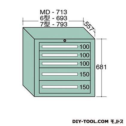 大阪製罐 ミドルキャビネット 幅×奥行×高さ:713×557×681mm MD606