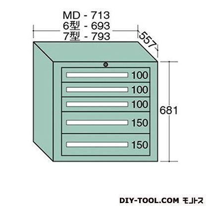 大阪製罐 スタンダードキャビネット 幅×奥行×高さ:693×557×681mm 6-606