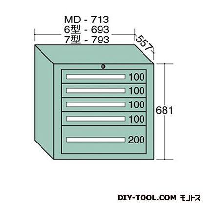 大阪製罐 スタンダードキャビネット 幅×奥行×高さ:793×557×681mm 7-607