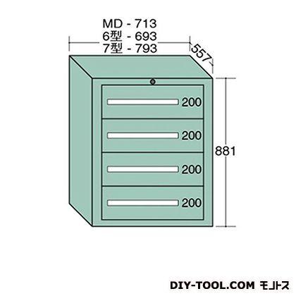 大阪製罐 スタンダードキャビネット 幅×奥行×高さ:693×557×881mm 6-802