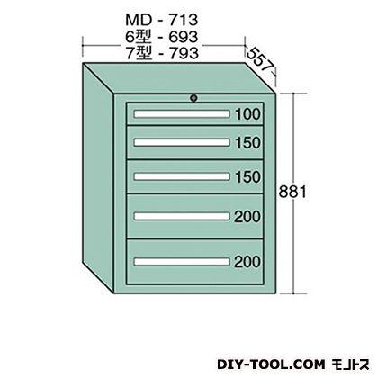 大阪製罐 スタンダードキャビネット 幅×奥行×高さ:693×557×881mm 6-803