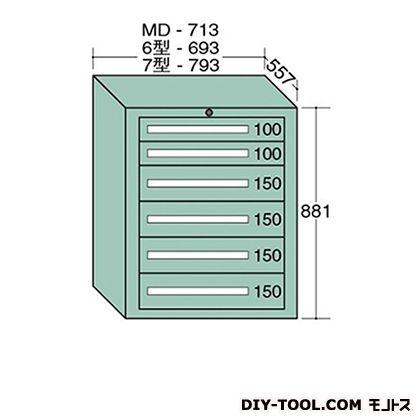 大阪製罐 スタンダードキャビネット 幅×奥行×高さ:693×557×881mm 6-804
