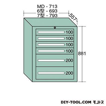 大阪製罐 ミドルキャビネット 幅×奥行×高さ:713×557×881mm MD807
