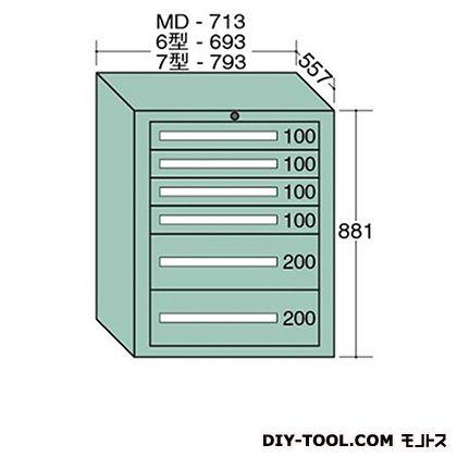 大阪製罐 スタンダードキャビネット 幅×奥行×高さ:693×557×881mm 6-807