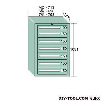 大阪製罐 ミドルキャビネット 幅×奥行×高さ:713×557×1081mm MD1003