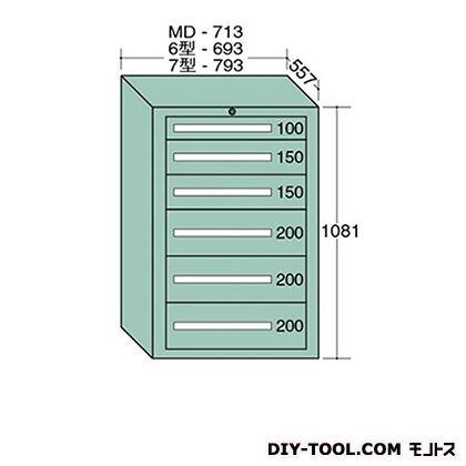 大阪製罐 ミドルキャビネット 幅×奥行×高さ:713×557×1081mm MD1004