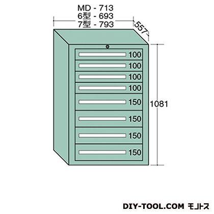大阪製罐 スタンダードキャビネット 幅×奥行×高さ:693×557×1081mm 6-1008