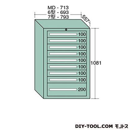 大阪製罐 スタンダードキャビネット 幅×奥行×高さ:793×557×1081mm 7-1013