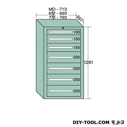大阪製罐 スタンダードキャビネット 幅×奥行×高さ:693×557×1281mm 6-1204