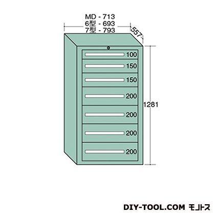大阪製罐 スタンダードキャビネット 幅×奥行×高さ:793×557×1281mm 7-1204