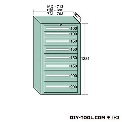 大阪製罐 スタンダードキャビネット 幅×奥行×高さ:693×557×1281mm 6-1205