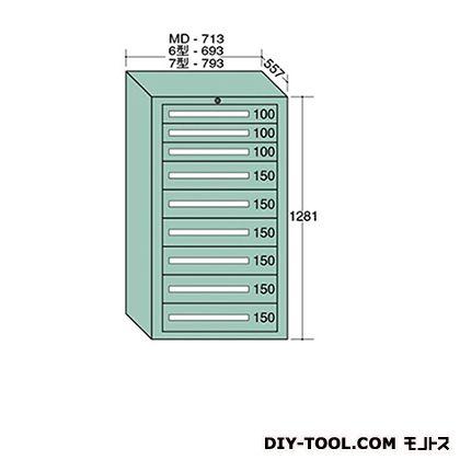 大阪製罐 ミドルキャビネット 幅×奥行×高さ:713×557×1281mm MD1206