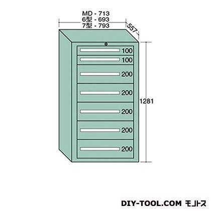 大阪製罐 スタンダードキャビネット 幅×奥行×高さ:793×557×1281mm 7-1206