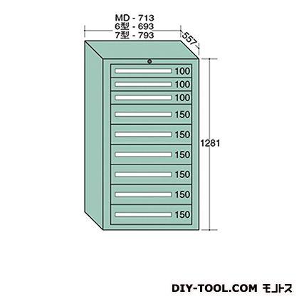 大阪製罐 スタンダードキャビネット 幅×奥行×高さ:693×557×1281mm 6-1207