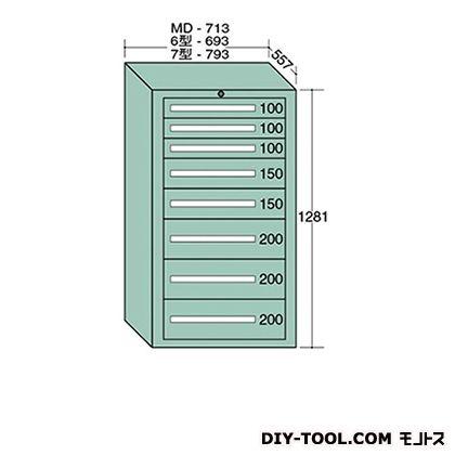 大阪製罐 スタンダードキャビネット 幅×奥行×高さ:693×557×1281mm 6-1208