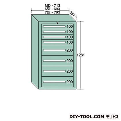 大阪製罐 ミドルキャビネット 幅×奥行×高さ:713×557×1281mm MD1209