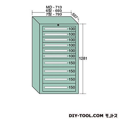 大阪製罐 スタンダードキャビネット 幅×奥行×高さ:693×557×1281mm 6-1212
