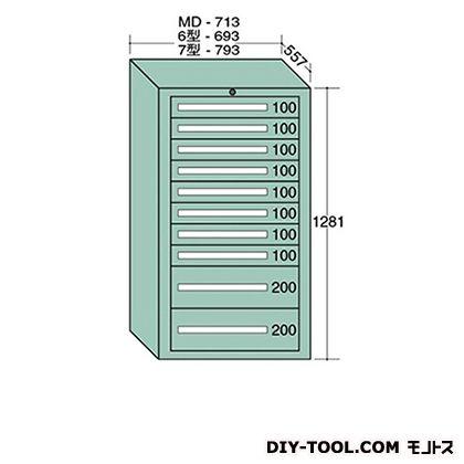 大阪製罐 スタンダードキャビネット 幅×奥行×高さ:693×557×1281mm 6-1215