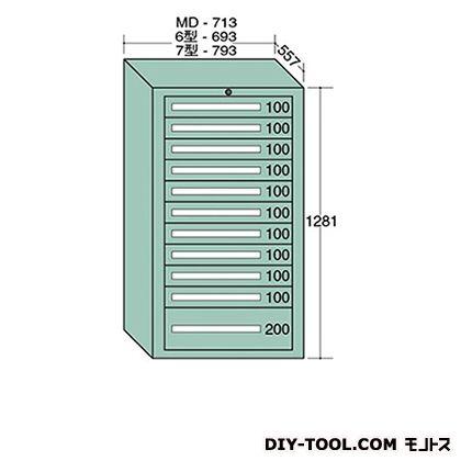 大阪製罐 スタンダードキャビネット 幅×奥行×高さ:693×557×1281mm 6-1217