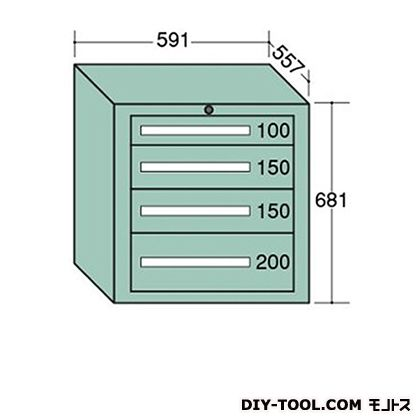 大阪製罐 ライトキャビネット 幅×奥行×高さ:591×557×681mm 5-604