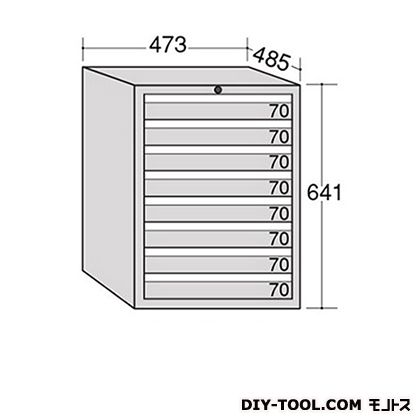 大阪製罐 ライゼットキャビネット レッド 幅×奥行×高さ:473×485×641mm LZ6080R