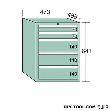 大阪製罐 ライゼットキャビネット Lグレー 幅×奥行×高さ:473×485×641mm LZ6023L