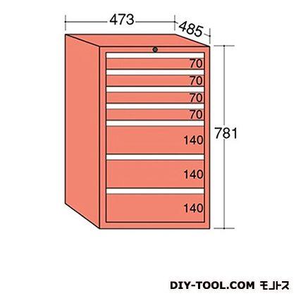 大阪製罐 ライゼットキャビネット Lグレー 幅×奥行×高さ:473×485×781mm LZ7043L