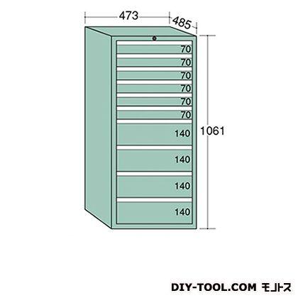 大阪製罐 ライゼットキャビネット Lグレー 幅×奥行×高さ:473×485×1061mm LZ1064L