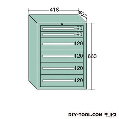 大阪製罐 ミゼットキャビネット Lグレー 幅×奥行×高さ:418×407×663mm M10-1G